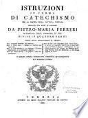 Istruzioni in forma di Catechismo per la pratica della dottrina cristiana spiegate nel Gesu di Palermo