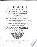 Itali ed altri strumenti lusori degli antichi Romani descritti
