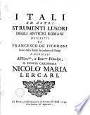 Itali ed altri strumenti lusori degli antichi Romani....