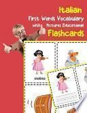 Italian First Words Vocabulary with Pictures Educational Flashcards