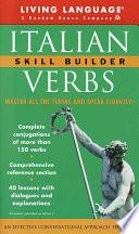 Italian Verbs Skill Builder Manual