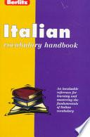 Italian Vocabulary Handbook
