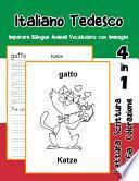 Italiano Tedesco Imparare Bilingue Animali Vocabolario con Immagini