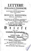 Italienische und deutsche Briefe über die vornehmsten Merkwürdigkeiten der churfürstlich-baierischen Residenzstadt München