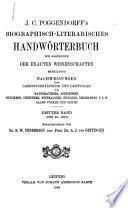 J.C. Poggendorffs biographisch-literarisches Handwhorterbuch zur Geschichte der exacten Wissenschaften ...: bd. (1858 bis 1883) 1898