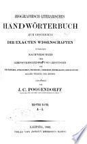J. C. Poggendorffs biographisch-literarisches handwörterbuch