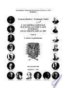 L'Accademia nazionale di scienze, lettere ed arti di Modena dalle origini (1683) al 2005: L'attività e le pubblicazioni