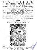 L'Achille Et L'Enea Di Messer Lodovico Dolce