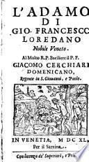 L'Adamo. - Venetia, Sarzina 1640