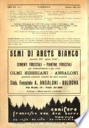 L'alpe rivista forestale italiana fondata dalla Società emiliana pro-montibus et sylvis