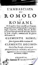L'ambasciata di Romolo à Romani