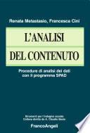 L'analisi del contenuto. Procedure di analisi dei dati con il programma SPAD