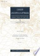 L'Analisi Linguistica e Letteraria 2008-1