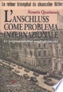 L'Anschluss come problema internazionale