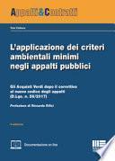L'applicazione dei criteri ambientali minimi negli appalti pubblici