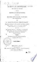 L'Arte di recettare secondo le regole della chimica farmaceutica owero piccolo dizionario manuale e portatile