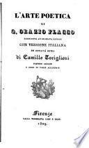 L'arte poetica di Q. Orazio Flacco ricondotta ad ordinata lezione con versione italiana in ottava rima di Camillo Toriglioni ...