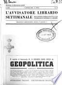 L'avvisatore librario settimanale bollettino bibliografico