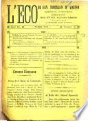 L'eco di San Tommaso d'Aquino periodico scientifico letterario