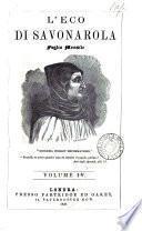 L'Eco di Savonarola, foglio mensile diretto da Italiani cristiani