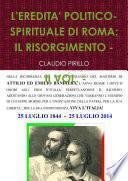 L'EREDITA' POLITICO-SPIRITUALE DI ROMA: IL RISORGIMENTO - II VOL. -