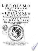 L'Eroismo ponderato nella vita di Alessandro il Grande