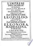 L'Imprese dell'Achille di Roma. Festa per Musica. Musica dal ...