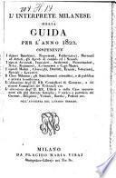 L' Interprete Milanese Ossia Guida