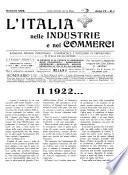 L'Italia nelle industrie e nei commerci rassegna mensile del Movimento economico in Italia