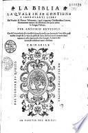 La Biblia - La quale in se contiene... per Antonio Brucioli