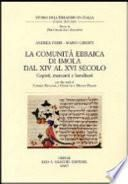 La comunità ebraica di Imola dal XIV al XVI secolo