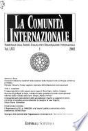 La Comunità internazionale
