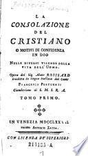 La consolazione del cristiano a motivi di confidenza in Dio nelle diverse vicende della vita dell'Uomo