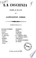 La coscienza dramma in sei atti di Alessandro Dumas