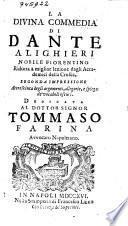 La divina commedia ridotta a miglior lezione dagli accademici della Crusca