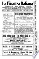 La finanza italiana rivista settimanale di banche, di produzione e di traffico
