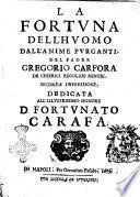 La fortuna dell'huomo dall'anime purganti, del padre Gregorio Carfora de chierici regolari minori