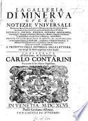 La Galleria di Minerva [ed. by G. Albrizzi.].