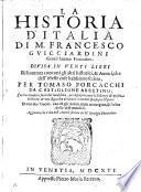 La historia d'Italia ... Aggiuntovi la Vita dell'Autore scritta da Remigio Fiorentino