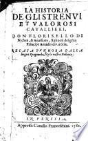 La Historia De Gli Strenui Et Valorosi Cavallieri Don Florisello Di Nichea, & Anassarte, figliuoli del gran Principe Amadis di Grecia