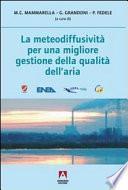 La meteodiffusività per una migliore gestione della qualità dell'aria