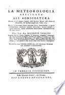 LA METEOROLOGIA APPLICATA ALL AGRICOLTURA