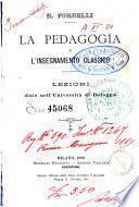 La pedagogia e l'insegnamento classico