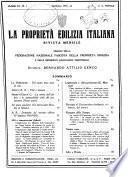 La proprieta edilizià italiana rivista mensile