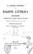 La Ragione Filosifica E La Ragione Cattolica