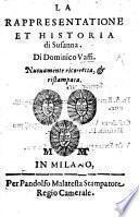 La Rappresentatione et historia di Susanna ... Nuouamente ricorretta,&ristampata. [In verse.]