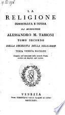 La religione dimostrata e difesa. 3 veneta edizione