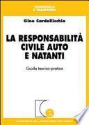 La responsabilità civile auto e natanti