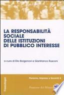 La responsabilità sociale delle istituzioni di pubblico interesse