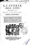La storia dell'anno 1799. Divisa in cinque libri. Parte prima [-terza]
